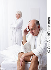 Husband having conflict with wife