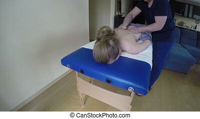 husband massage wife back