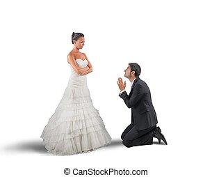 Husband pray