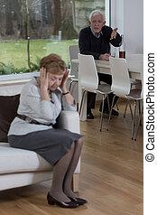 Husband yells at his wife