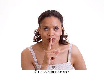 Hush - Woman hushing