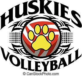 huskies volleyball - tribal huskies volleyball team design...