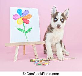 Husky Artist - Sweet Husky puppy that looks like she just ...