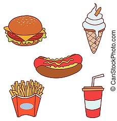 hustě food, cíl, vybírání