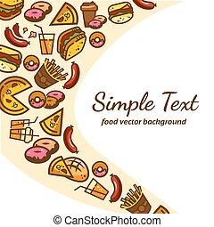 hustě food, grafické pozadí