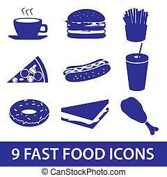 hustě food, ikona, dát, eps10