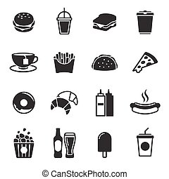 hustě food, ikona, dát