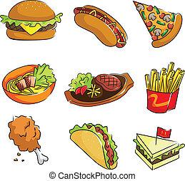 hustě food, ikona