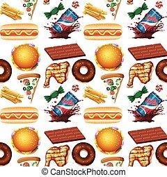 hustě food, seamless, grafické pozadí