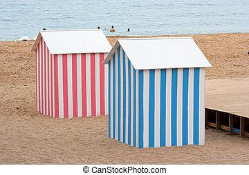 hut, badning