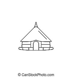 Hut icon, outline style
