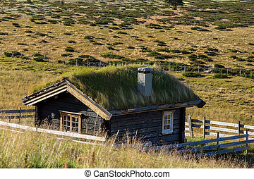 Hut in Norway mountains
