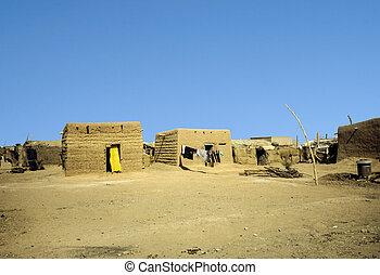 hut made of loam in Omdourman, Sudan.