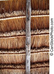 Hut palapa traditional sun roof wiev from above - Hut palapa...