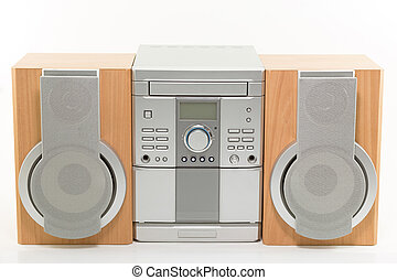 hutný, rádio, systém, hráč, něco velmí malého, cd