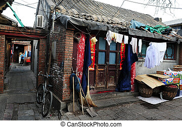 hutong, in, beijing, porslin