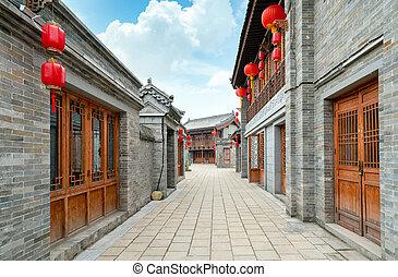 Hutong in the old city, Luoyang, Henan, China.