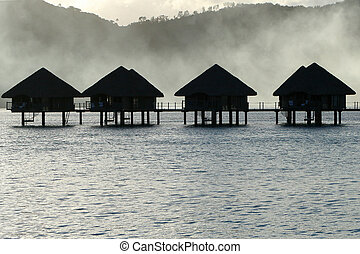 Huts in Afternoon