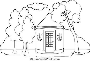hutte, dessin