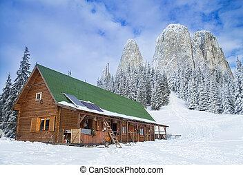 hutte, montagne