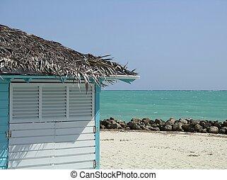 hutte, plage