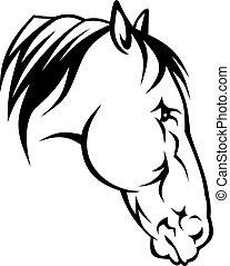 huvud, häst