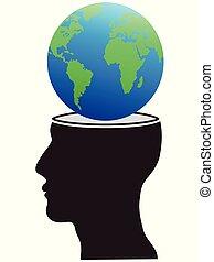 huvud, klot, mänsklig