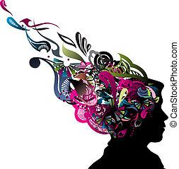 huvud, mänsklig