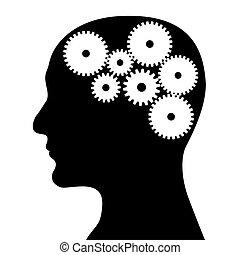 huvud och, mekanism