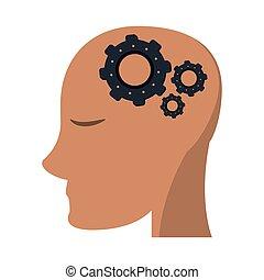 huvud, själ, utrustar