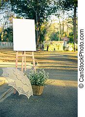 huwelijk foto, frame, witte , dag