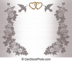 huwelijk uitnodiging, achtergrond, elegant