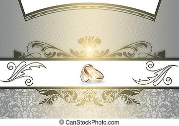 huwelijk uitnodiging, kaart, design.