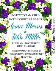 huwelijk uitnodiging, kaart, viering