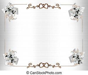 huwelijk uitnodiging, witte bloemen