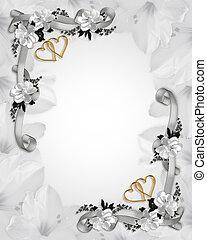 huwelijk uitnodiging, witte , magnolias