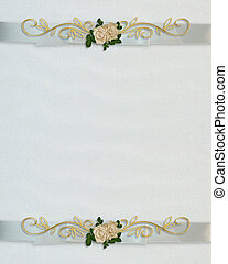 huwelijk uitnodiging, witte , rozen