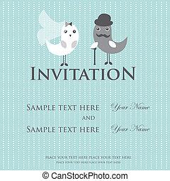 huwlijkskaart, uitnodiging