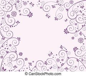 huwlijkskaart, viooltje