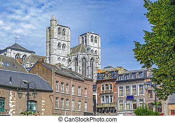 Huy in Belgium, Walloon region, Gothic Notre-Dame collegiate...