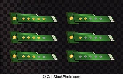 hvězda, hlasovat, šablona, jako, tvůj, interface., vektor, template.