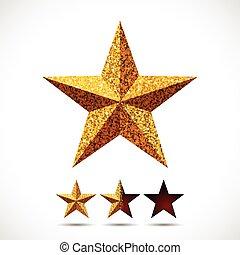 hvězda, s, třpytit se, tkanivo, a, odhad, šablona