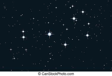 hvězda, vektor, -, mléčná dráha, pleiades