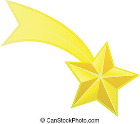 hvězda, vektor, střelba