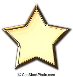 hvězda, zlatý