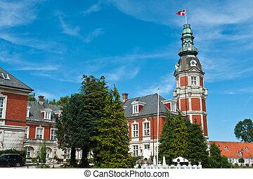 Hvedholm castle slot Funen Denmark - Hvedholm castle slot...
