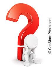 hvid, 3, spørgsmål, folk