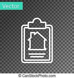 hvid, ansøgning, transparent, baggrund., isoleret, kontrakt, beklæde, form, oprettelse, ikon, dannelse, tjeneste, composition., dokument, vektor, hus