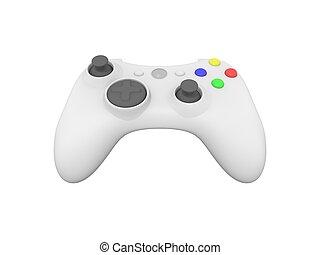 hvid, controller boldspil video, på hvide