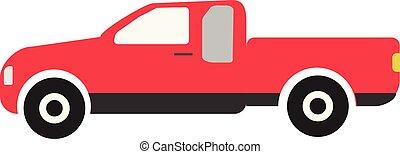 hvid, din, baggrund., tegn, konstruktion, symbol, lastbil, style., ui., rød, site, thailand, logo, ikon, væv, app, lejlighed, opsamlende
